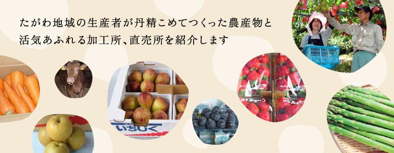 たがわ地域の生産者が丹誠こめてつくった農産物と活気溢れる加工所、直売所を紹介します